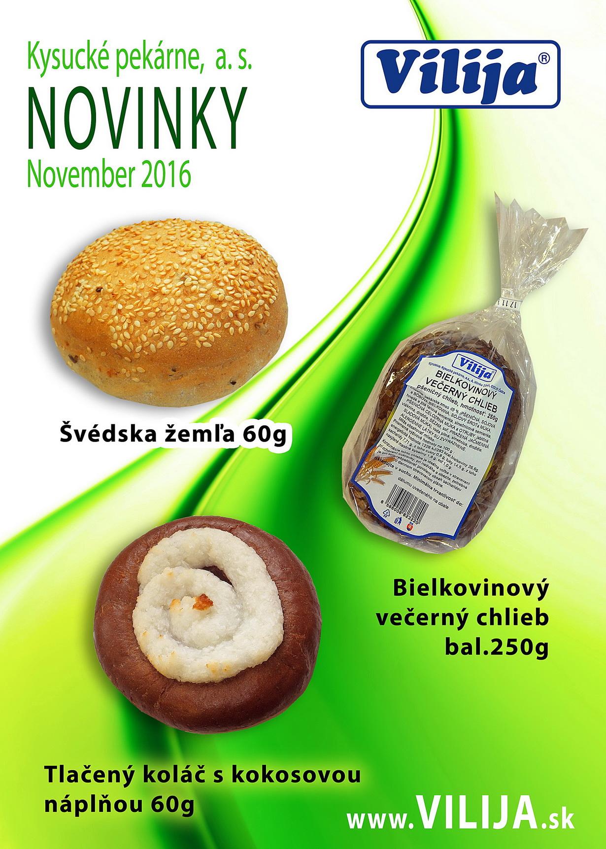 Novinky november 2016 - Vilija