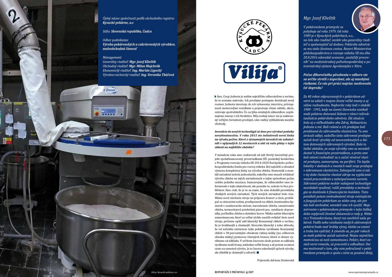 Časopis - český prúmysl - Vilija