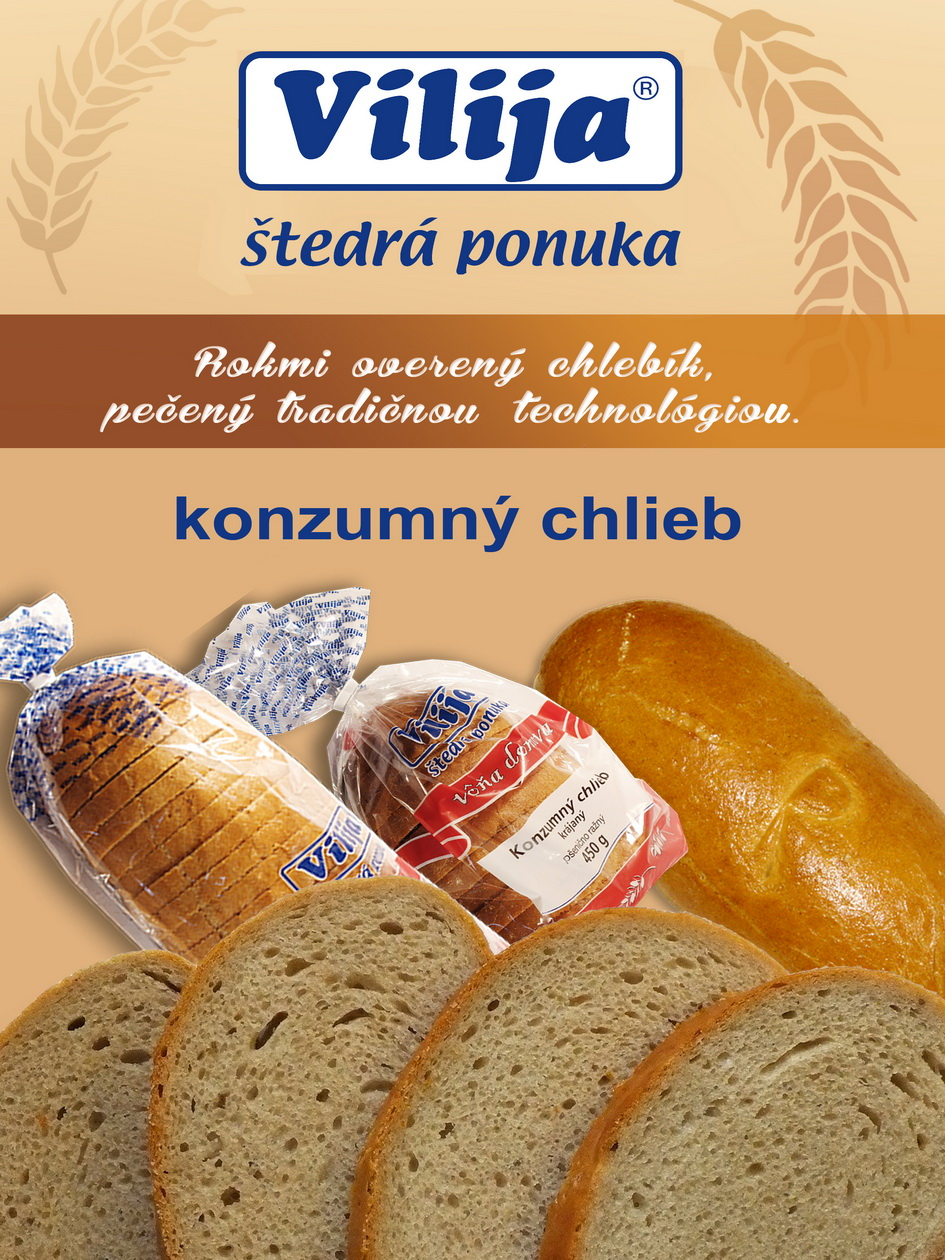 konzumný chlieb - vilija - 7 predností