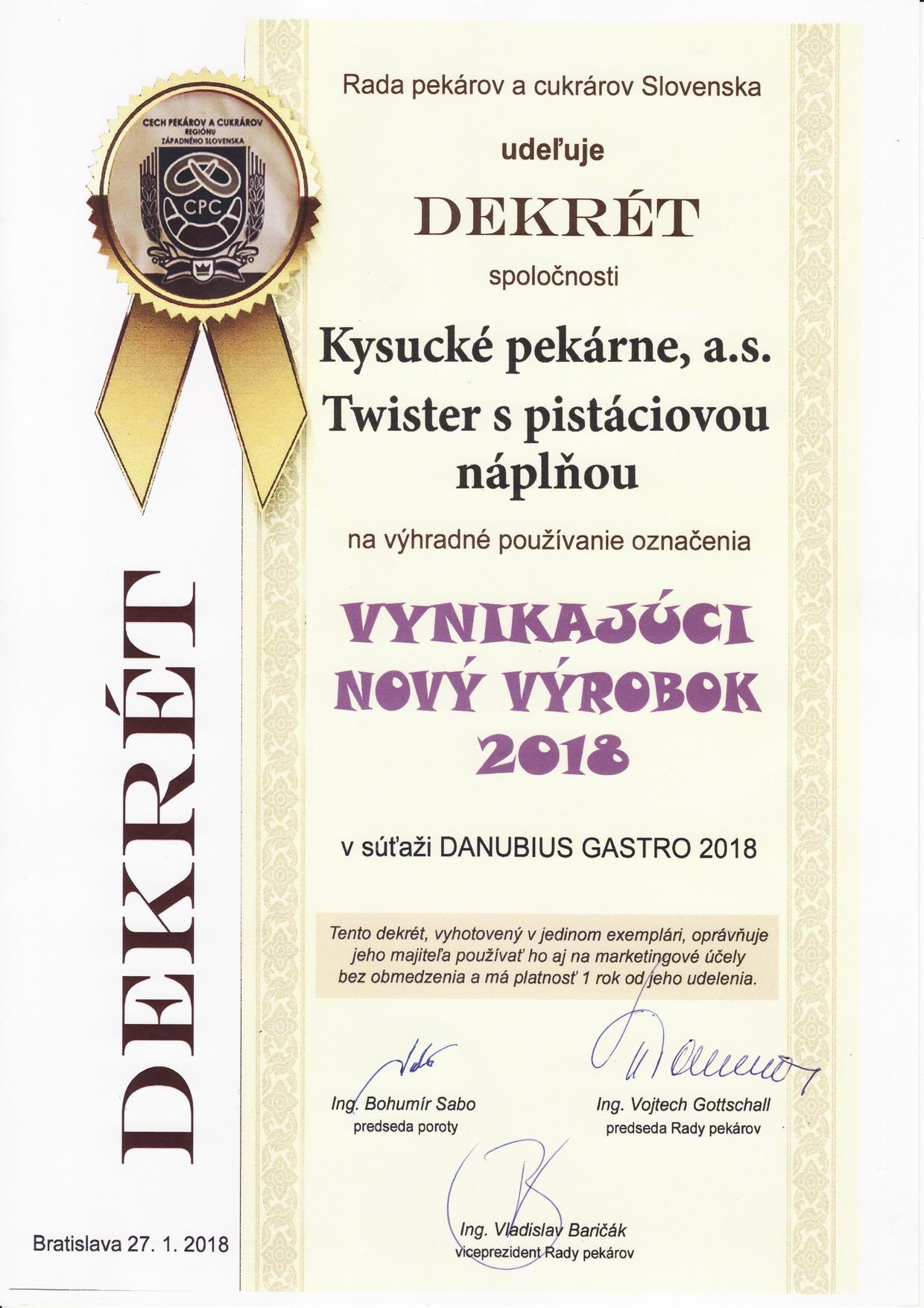 Vynikajúci nový výrobok 2018 - vilija