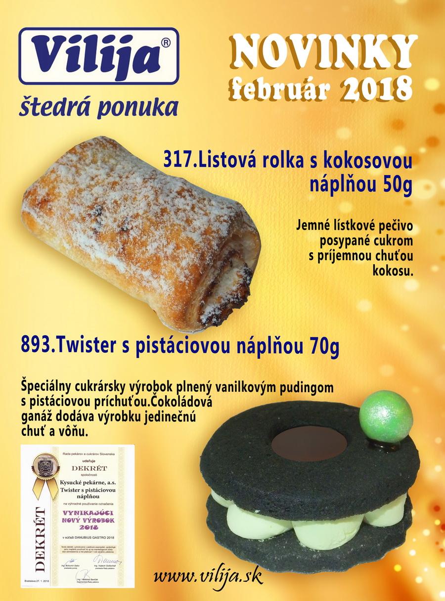 novinky od február 2018 - vilija